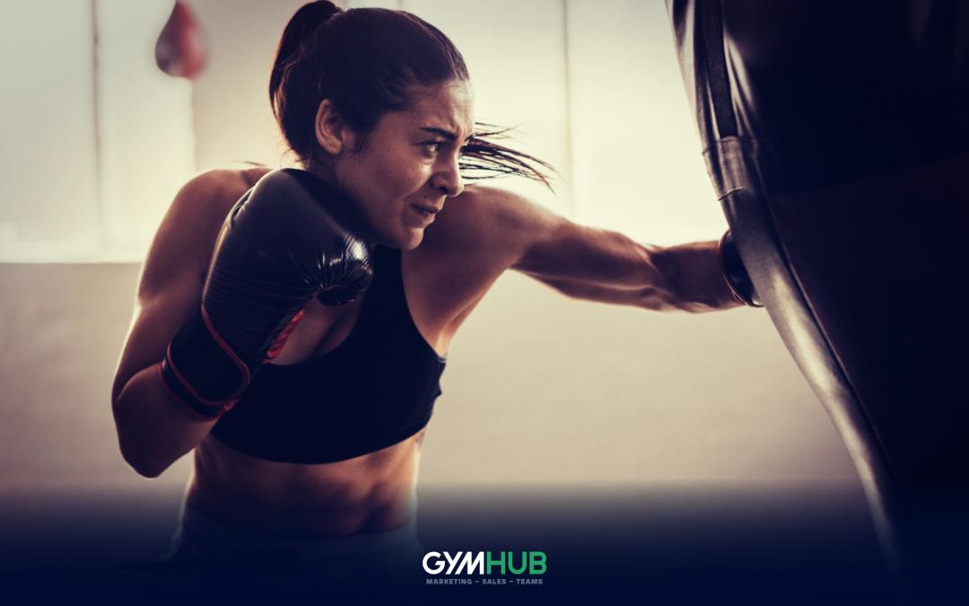 Gym Member Boxing Like An Animal