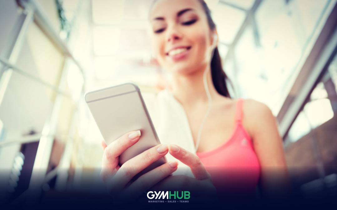 Gym Member Browsing Through Social Media