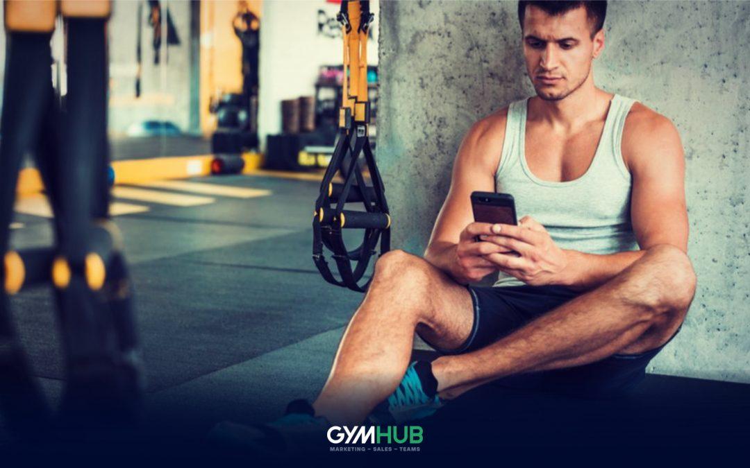 Gym Member Taking a Break